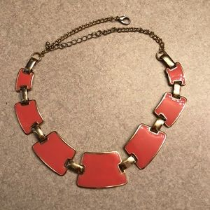 Square Short Coral Statement Necklace